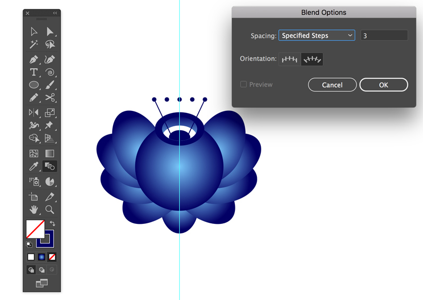 Blend tool in Adobe Illustrator