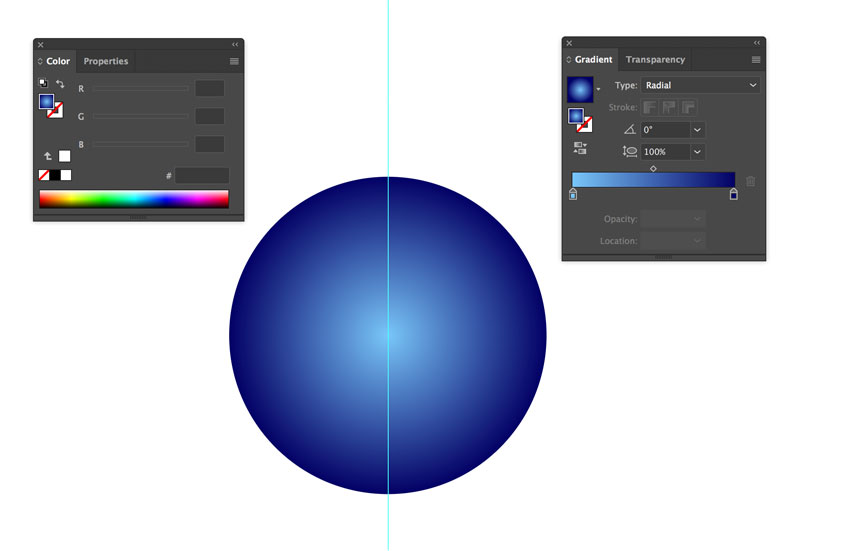 Creating Radial Gradient in Adobe Illustrator