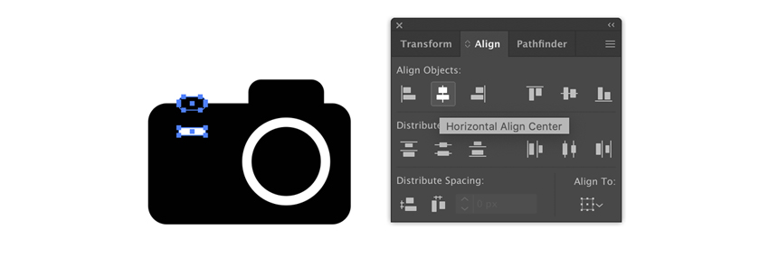 Adding detail to a camera icon
