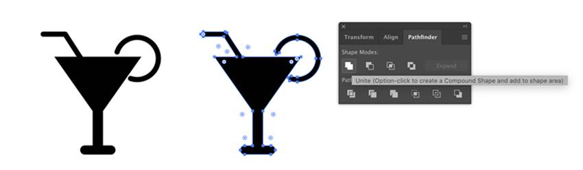 Drink icon in Adobe illustrator