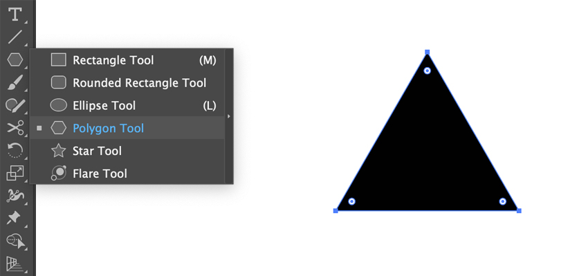 Drawing a triangle in Adobe Illustrator