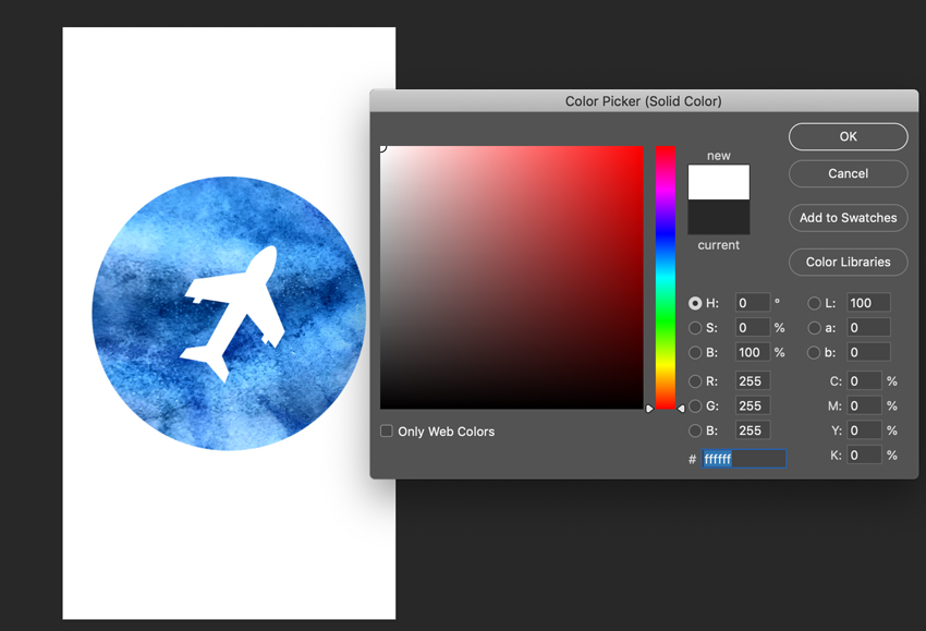 Change the color of shape layer in Adobe Photoshop
