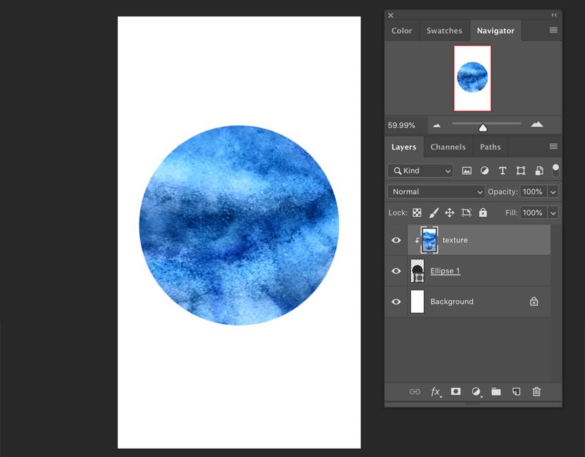 Clip layer in Adobe Photoshop