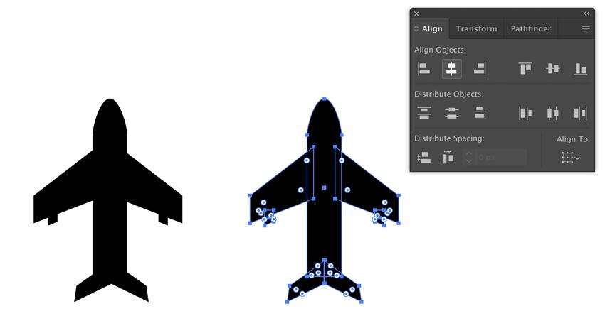 Align objects in Adobe Illustrator