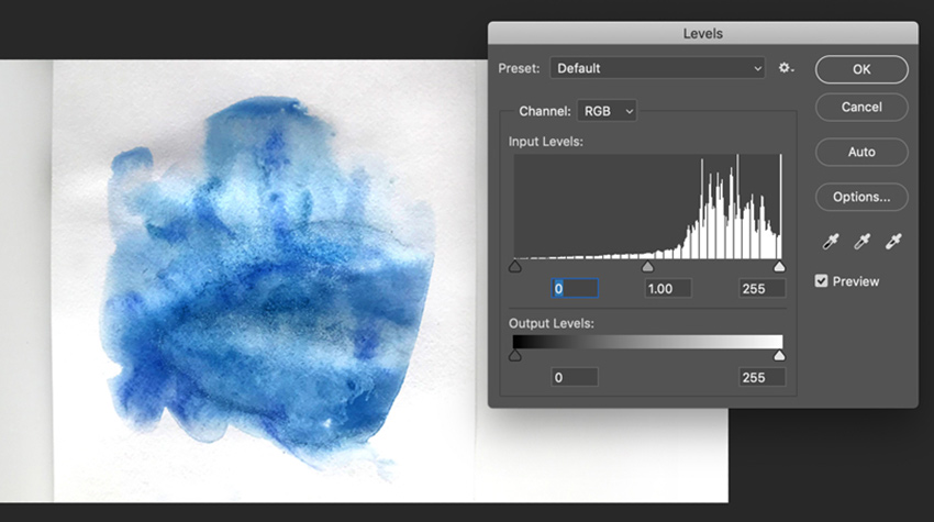 Correct levels in Adobe Photoshop