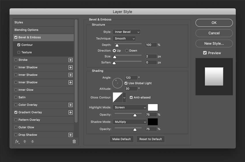 How to Create a Glossy Shine Effect in Photoshop Tutorial Bevel and Emboss