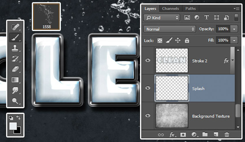 How to Create a Plastic Effect in Photoshop Tutorial Add Water Splash Brush