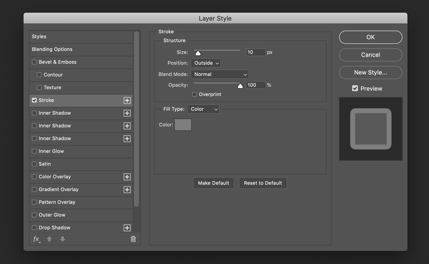 How to Create a Glossy Effect in Photoshop Tutorial Stroke Settings