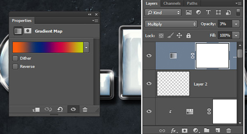 How to Create a Plastic Effect in Photoshop Tutorial Gradient Map Settings