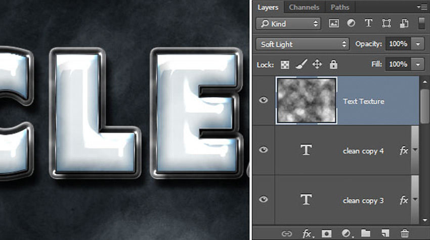 How to Create a Plastic Effect in Photoshop Tutorial Texture Layers Blend Mode