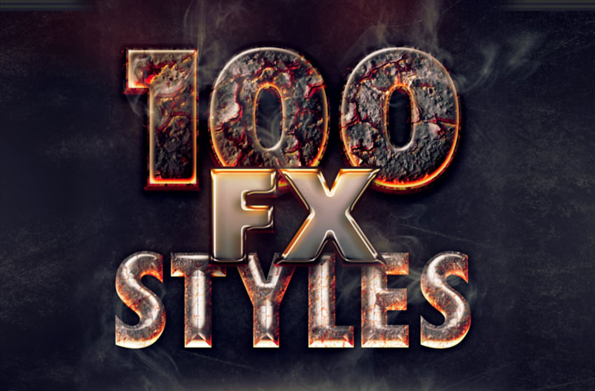 100 photoshop layer styles bundle