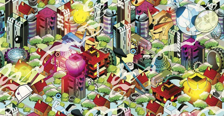 Build a Vibrant Pattern-Based Isometric Cityscape