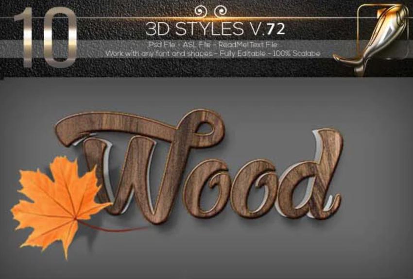 10 3D Text Styles D_72