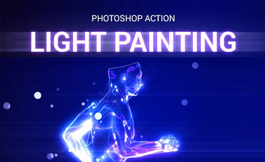 Light Painting Photoshop Action