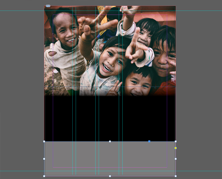 Add gray rectangle in Indesign