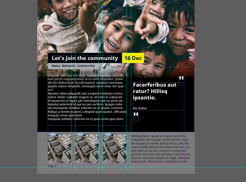 Add small images and article in InDesign