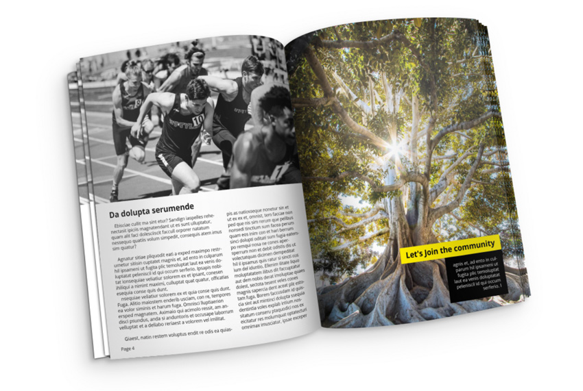 Magazine mockup in InDesign and Photoshop