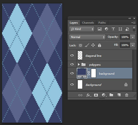 Tutorial Photoshop-Argyle Pattern