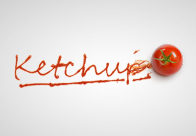 How to create a smeared ketchup text effect in adobe photoshop