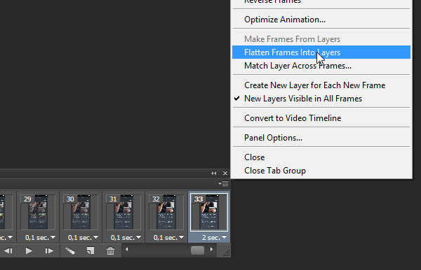 flatten layers into frames