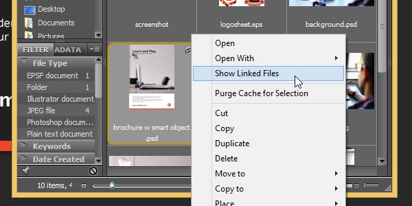 Linked Smart Object - Show linked files