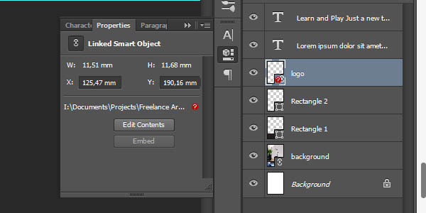 Linked Smart Object - Misssing linked file