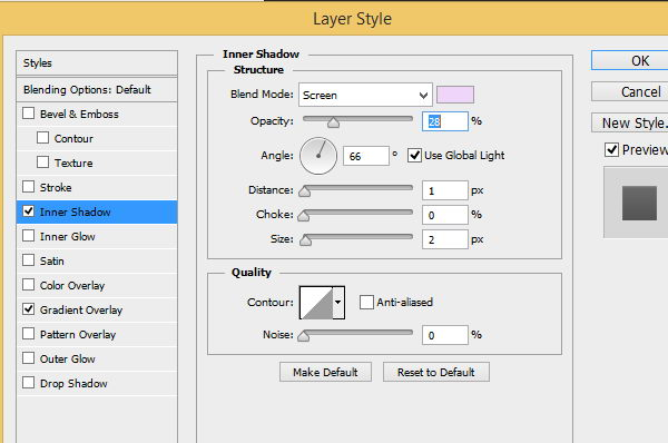 Layer Style settings