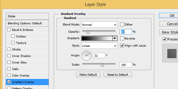 Gradient Overlay setting