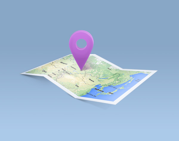 Final product map icon created in Adobe Photoshop