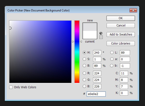 Preparing Canvas - Select background color