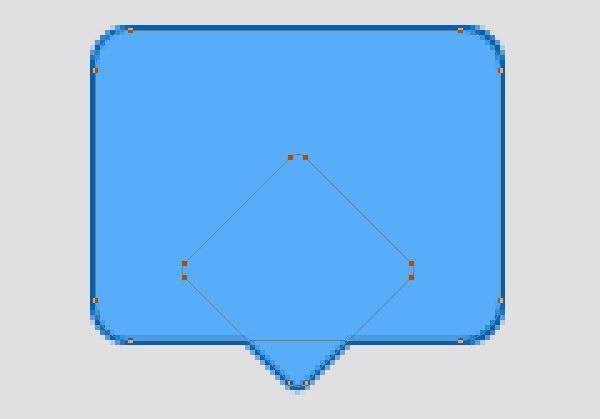 Designing Icon Base - Set color to light blue