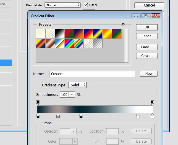 Designing Icon Base - Gradient Editor