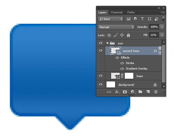 Designing Icon Base - Reduce Fills layer