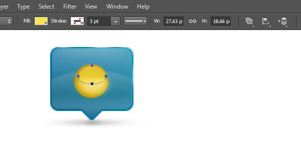 Add Icon Sign - Add elliptical shapes on top