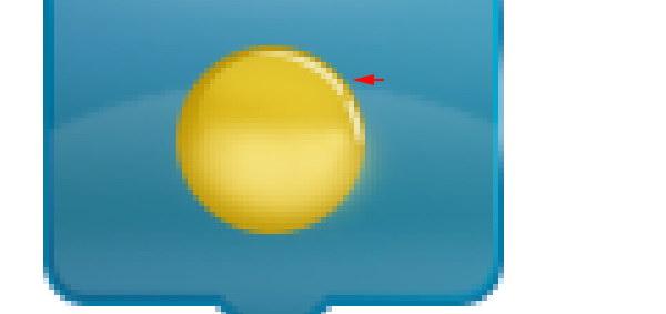 Add Icon Sign - Paint sun highlight