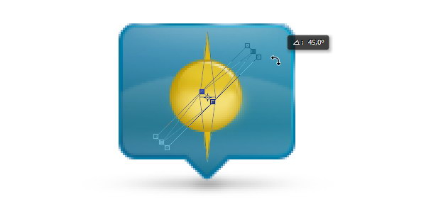 Add Icon Sign - Duplicate and rotate the yellow shapes