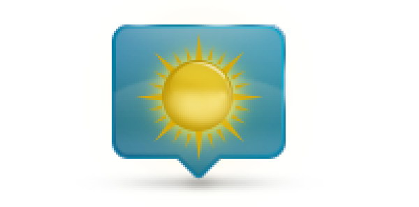 Add Icon Sign - Place the sun above the blurry shape