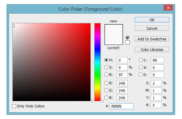 Select canvas color