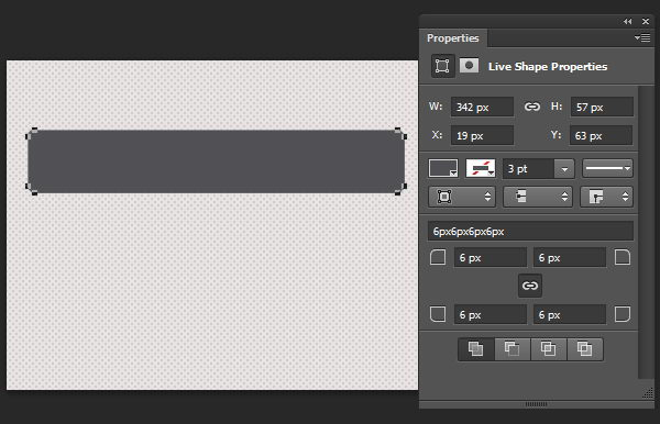 Draw a grey rounded rectangle