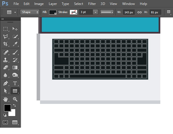 Draw smaller rectangles for the keyboard buttons