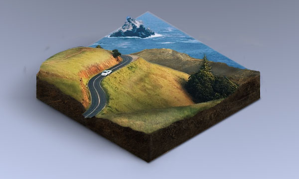 How to Turn a Landscape Photograph Into an Isometric Icon in Adobe Photoshop