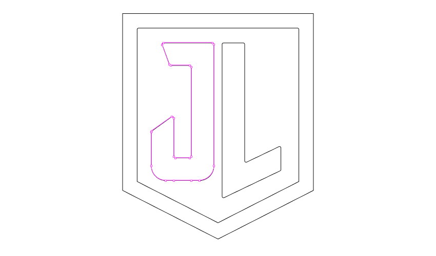 Remove points on letter J