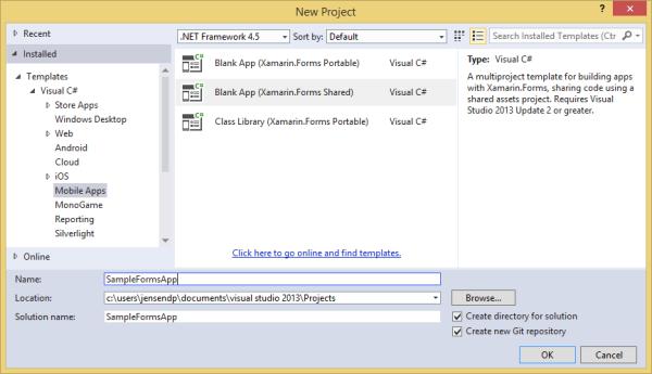 xamarin studio code templates - getting started with xamarin forms basics