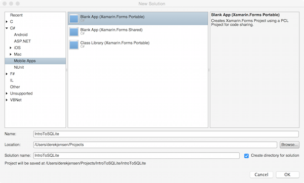 An Introduction to Xamarin Forms and SQLite