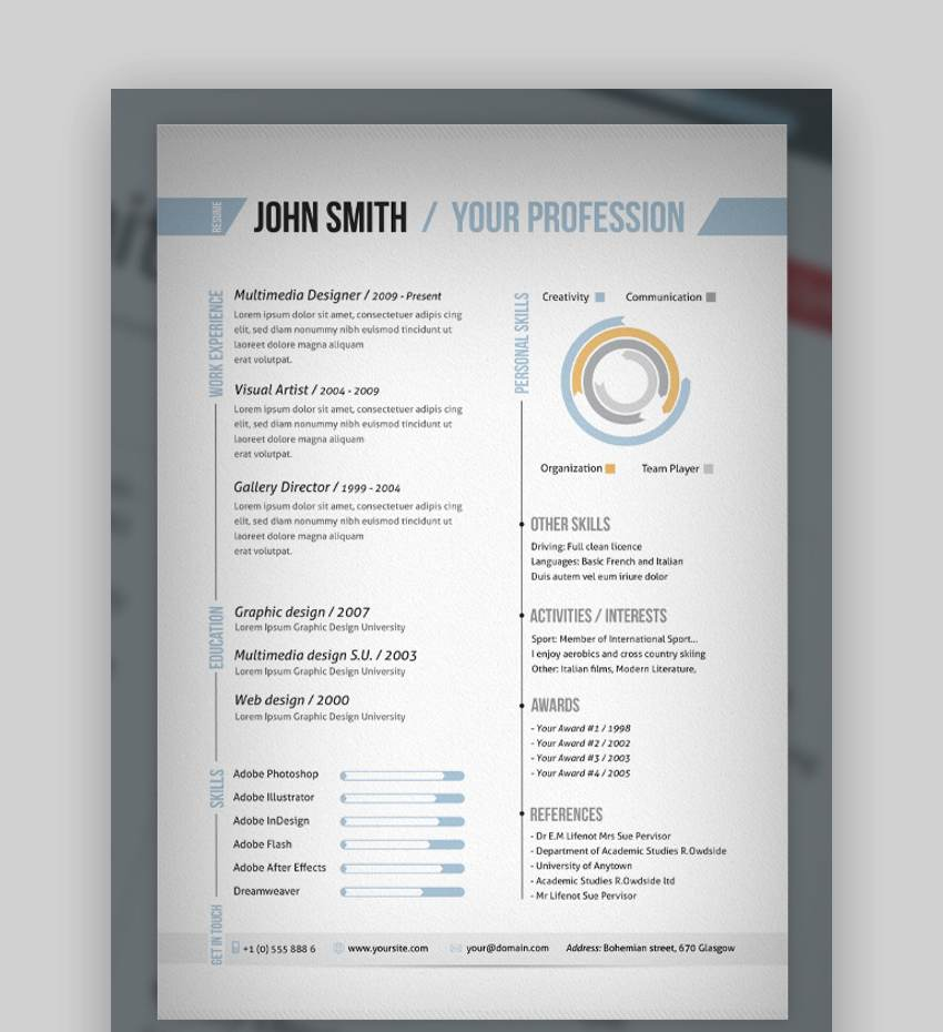 Resume Template Adobe Illustrator 61