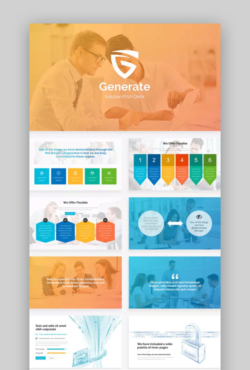 Generate Solutions Education Google Slides Themes