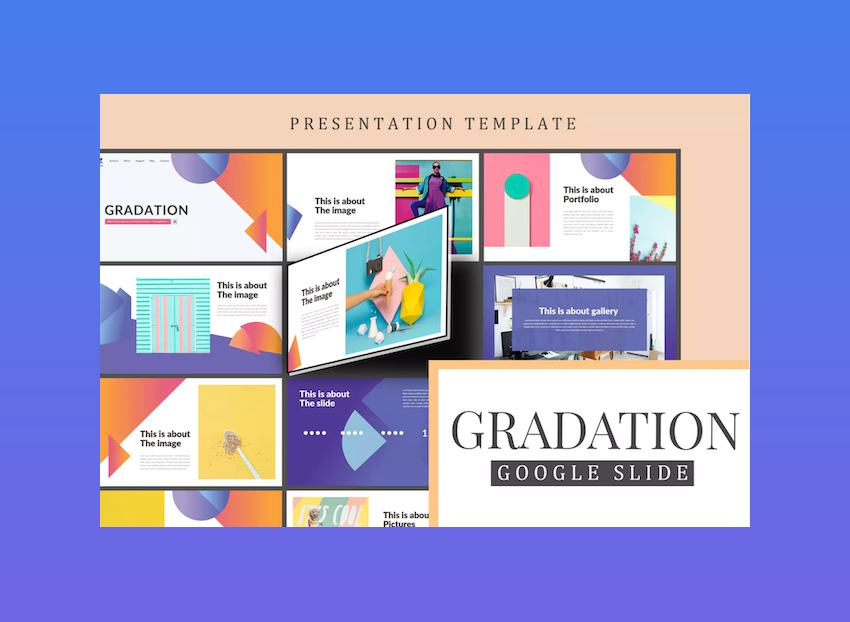 Gradation Google Slides Template for Education
