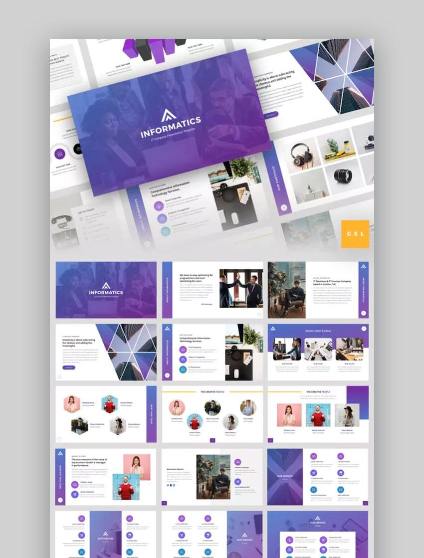 Informatics - IT Company Google Slides Template