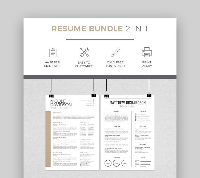 20 Free Creative Resume Templates (Word & PSD Downloads)