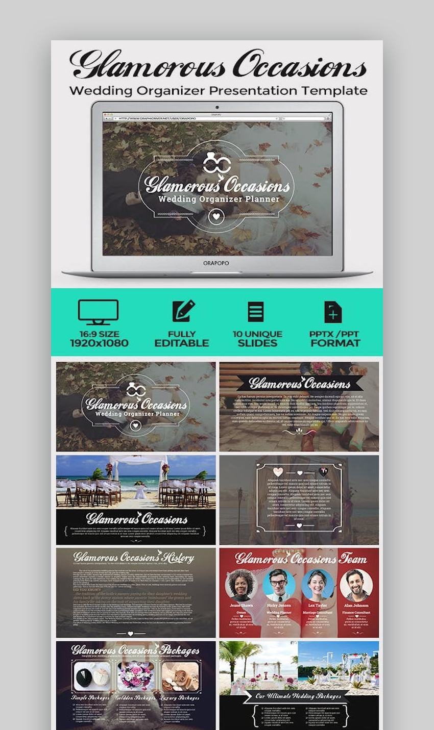 Wedding Organizer Presentation Template